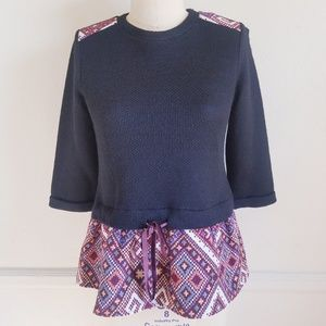 THML | Double Layered Tribal Jacquard Top